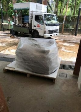 supply of packing material for cargo to be shipped